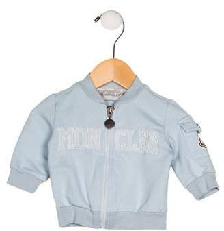 Moncler Boys' Embroidered Zip-Up Jacket