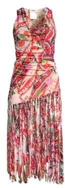 Fuzzi Swim Printed Fringe Dress