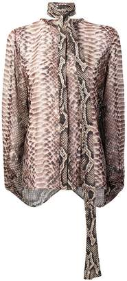 Elie Saab snakeskin effect blouse