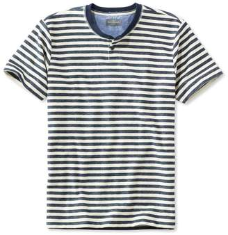 L.L. Bean L.L.Bean Men's Signature French Terry Tee, Short-Sleeve Stripe