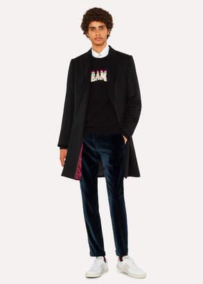 Paul Smith Men's Black Cashmere-Blend Peak-Lapel Epsom Coat