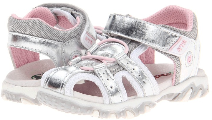 Naturino Sport 258 SP13 (Toddler/Youth) (Silver/White/Pink) - Footwear