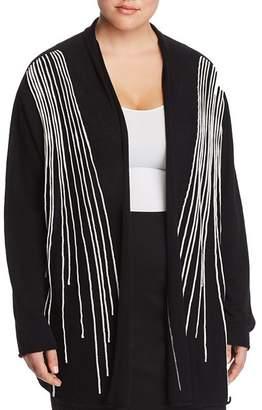 Marina Rinaldi Marcella Stripe Wool Cardigan