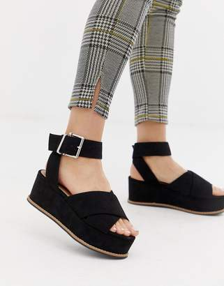 Asos DESIGN Tactful wedge sandals