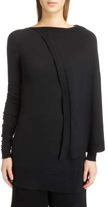 Rick Owens Cape Shoulder Stretch Cashmere Sweater