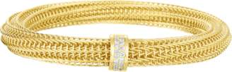 Roberto Coin Primavera Diamond Woven Bangle Bracelet
