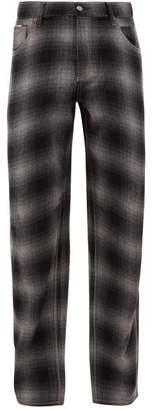 Eytys Benz Tartan Wool Blend Jeans - Mens - Black Grey