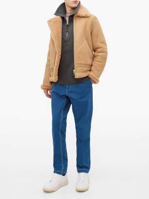 Acne Studios Ian Shearling Aviator Jacket - Mens - Beige