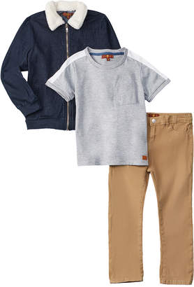 7 For All Mankind Seven 7 3Pc Jacket Set