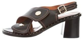 Derek Lam Leather Crossover Strap Sandals