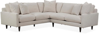 Robin Bruce Oslo Right-Facing Sectional - Ivory Crypton