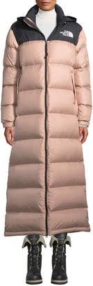 The North Face Nuptse Long Duster Puffer Coat w/ Packable Hood