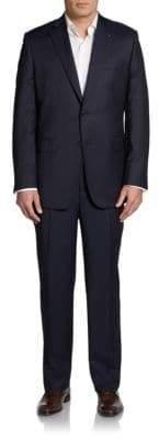 Saks Fifth Avenue BLACK Classic-Fit Finestriped Wool & Silk Suit