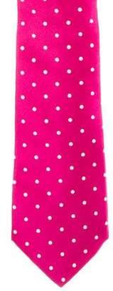 Ralph Lauren Purple Label Polka Dot Print Silk Tie
