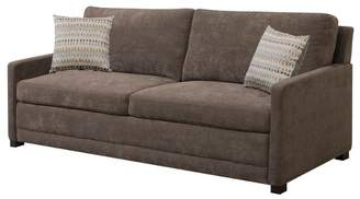 Serta Shelby Queen Size Sleeper Sofa in Brown