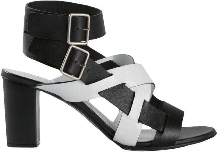 Jil Sander two-tone sandals