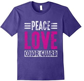 Peace Love Color Guard Distressed T-Shirt
