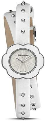 Salvatore Ferragamo Fiore White Watch, 24mm