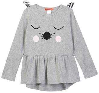 Funkyberry Animal Face Tunic (Toddler Girls)