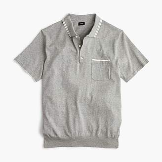 J.Crew Pima cotton short-sleeve Johnny-collar sweater polo