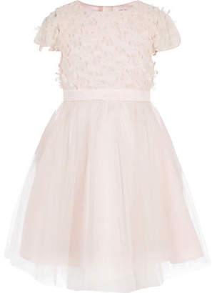 River Island Girls Chi Chi London pink flower prom dress