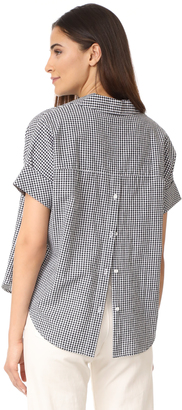 Madewell Courier Button Back Shirt $69.50 thestylecure.com