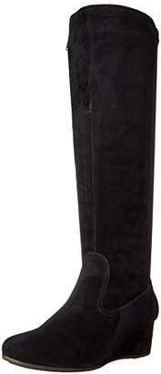 Rockport Women's Total Motion 45mm Wedge Tall Boot - Wide Calf Suede WC Boot (C)
