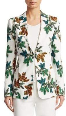 Akris Punto Tropical-Print Jacket