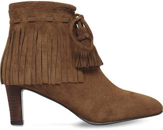 See by Chloe Ladies Tan Irina Fringed Suede Ankle Boots