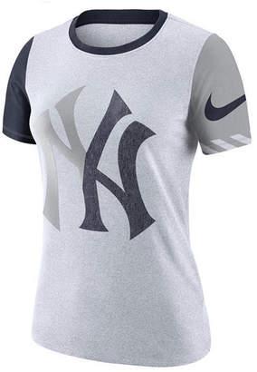 Nike Women New York Yankees Slub Logo Crew T-Shirt