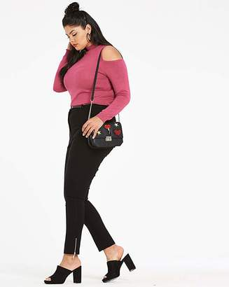 Fashion World Belted Zip Ankle Trousers Reg