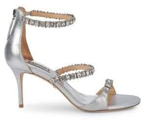 Badgley Mischka Yasmine Crystal Strap Sandals