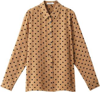 Heliopole (エリオポール) - エリオポール ドットプリント ゆるシャツブラウス