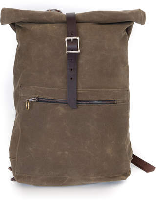 Half Light Bindery Waxed Canvas Roll Top Backpack