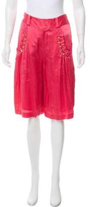 Mayle Silk Knee-Length Shorts w/ Tags