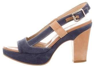 Hogan Slingback Platform Sandals
