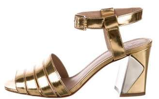 Tory Burch Metallic Ankle Strap Sandals