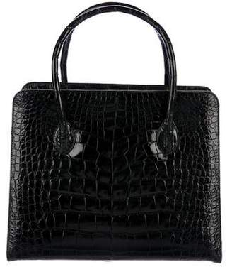 Finesse La Model Alligator Handle Tote
