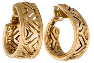 Cartier 18K Openwork J-Hoop Clip-On Earrings