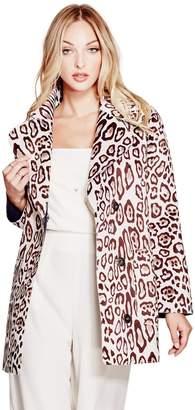 GUESS Women's Sally Faux-Fur Coat
