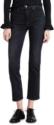 Levi's Premium 724 High-Rise Cropped Straight-Leg Jeans