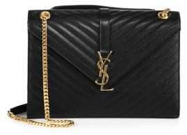 Saint Laurent Large Monogram Matelasse Leather Chain Shoulder Bag