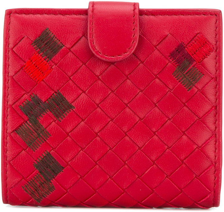 Bottega VenetaBottega Veneta interlaced leather wallet