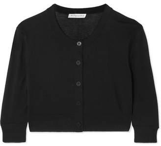 Altuzarra Anita Cropped Silk And Cotton-blend Cardigan - Black