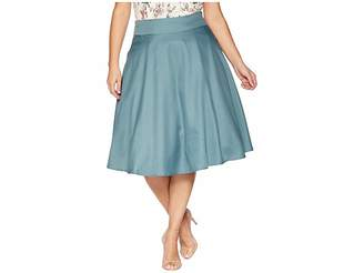 Unique Vintage Plus Size High-Waist Vivien Swing Skirt