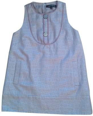 American Retro Ecru Cotton Dress for Women