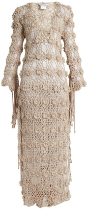 MY BEACHY SIDE Lotus crochet-knit maxi dress