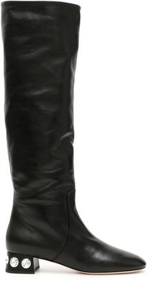 Miu Miu Madras Boots With Crystals