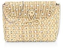 Poolside Women's The Denise Embellished Straw Box Clutch