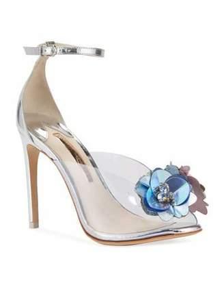 Sophia Webster Cindy Metallic Floral Sandals